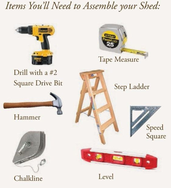 assemble a shed kit