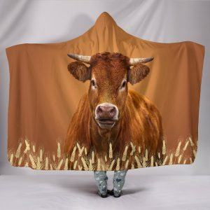 Brown Cow Hooded Blanket