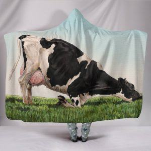 Yoga Dairy Cow Hooded Blanket