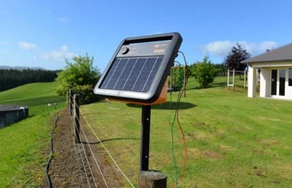 place a solar fence charger