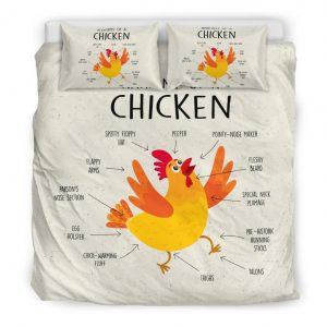 Anatomy of a Chicken Bedding Set King
