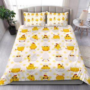 Baby Chickens and Eggs Pattern Bedding Set