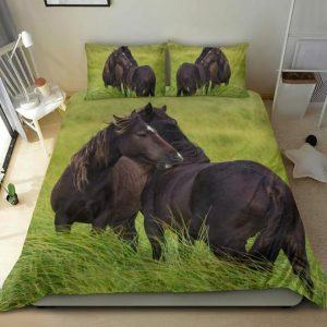 Couple of Horses on the Pasture Bedding Set