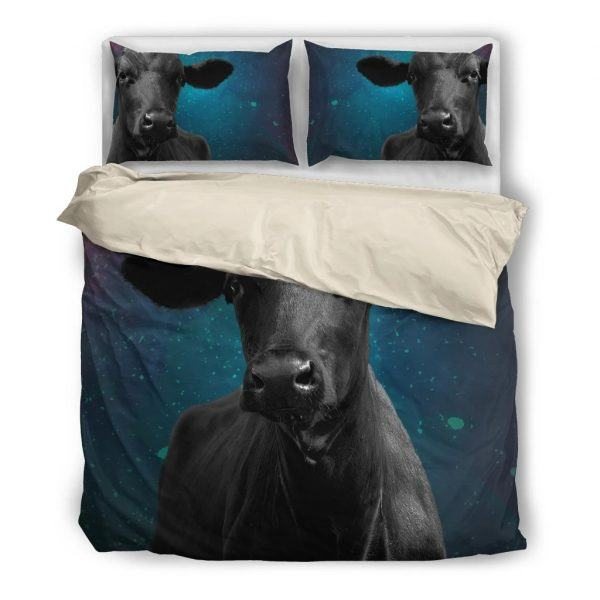 Cow in Galaxy Bedding set white