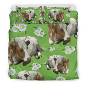 Cows and Sunflower bedding set king