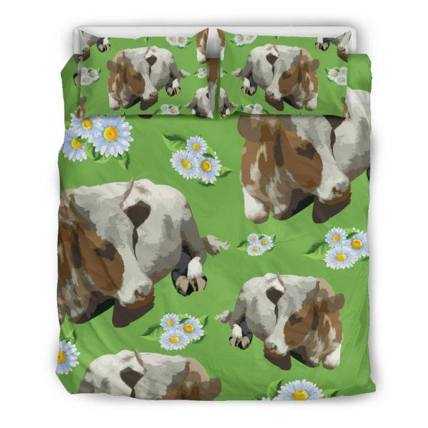 Cows and Sunflower bedding set queen