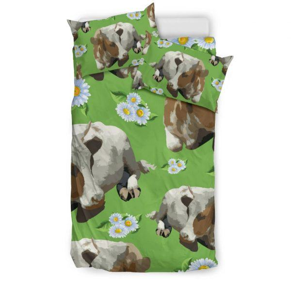 Cows and Sunflower bedding set twin