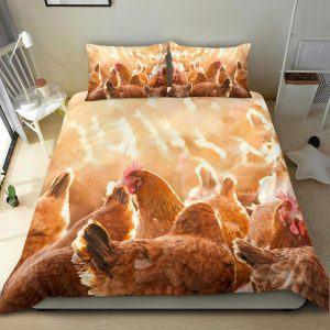 Flock of Chicken Bedding Set
