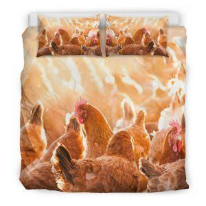 Flock of Chicken Bedding Set King