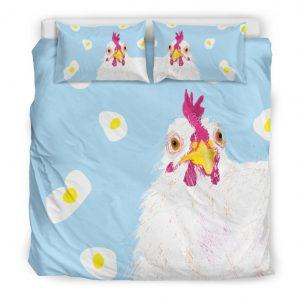 Mother Chicken Hen with Egg Bedding Set King