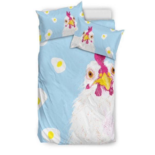 Mother Chicken Hen with Egg Bedding Set Twin