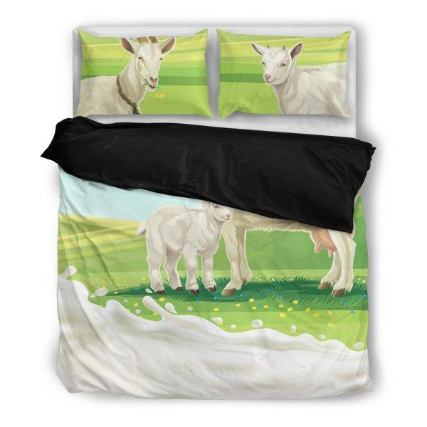 Mother and Baby Goat Bedding Set Black