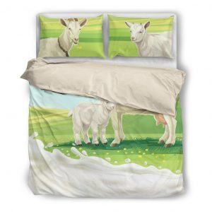 Mother and Baby Goat Bedding Set White