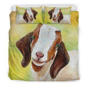 Realistic Baby Goat Bedding Set King