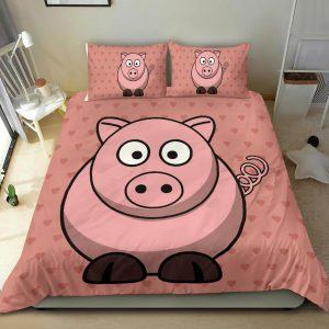 Super Cute Fat Pig Bedding Set