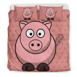 Super Cute Fat Pig Bedding Set King