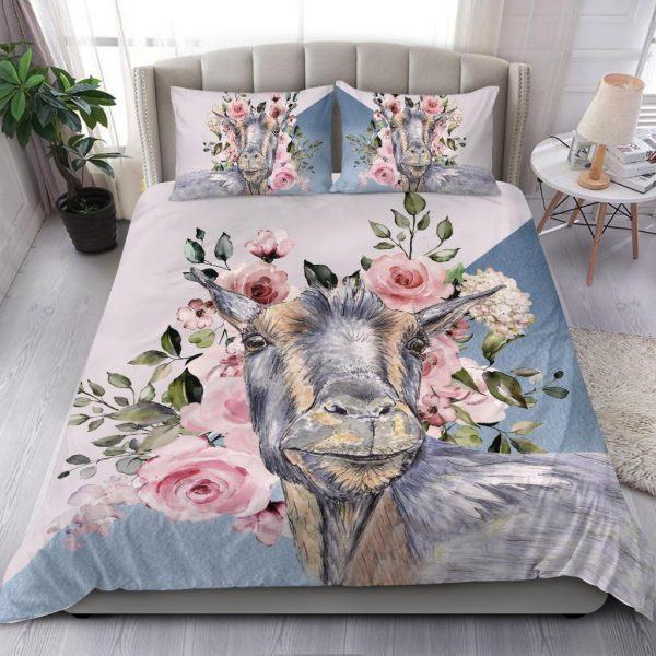 Super Cute Goat with Rose Bedding Set