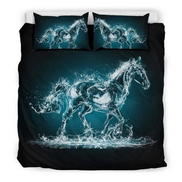 Water and Horse Shape Bedding Set King