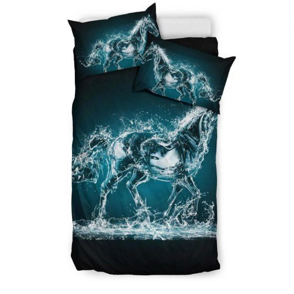 Water and Horse Shape Bedding Set Twin