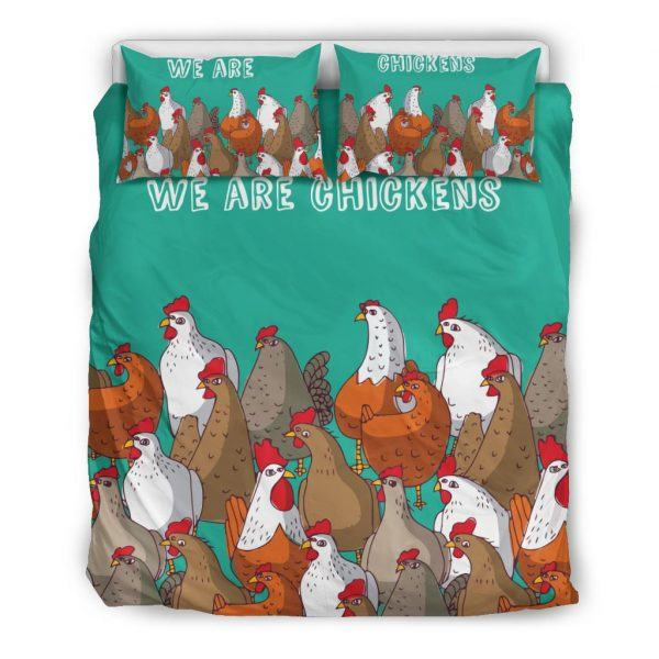 We Are Chicken Bedding Set Queen