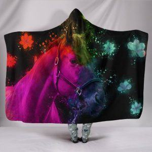Beautiful Horse Painting Hooded Blanket