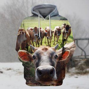 A Herd of Cattle 3D Hoodie