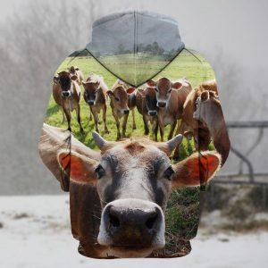 A Herd of Cattle 3D Hoodie Back