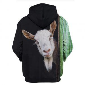 Beautiful Goat All Over Print 3D Hoodie back
