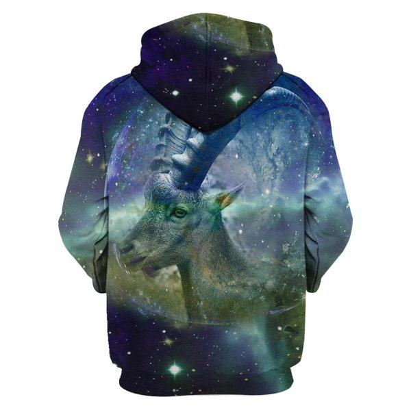 Galaxy of Goat 3D Hoodie back