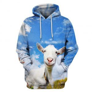 Goat with Blue Sky 3D Hoodie