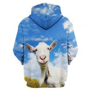 Goat with Blue Sky 3D Hoodie back