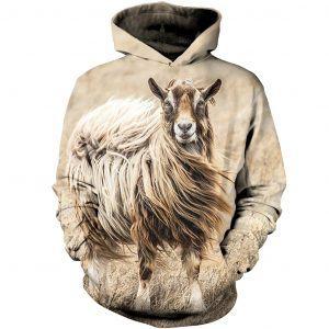 Queen Of Goat 3D Hoodie