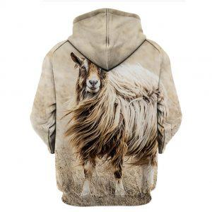 Queen Of Goat 3D Hoodie back