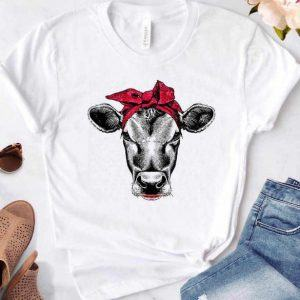 Cow Wearing Red Bandana Shirt