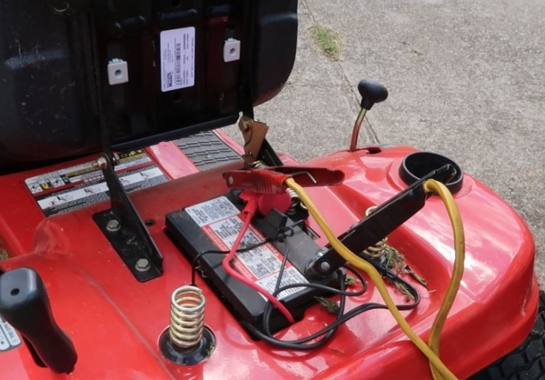 charge a lawn mower battery